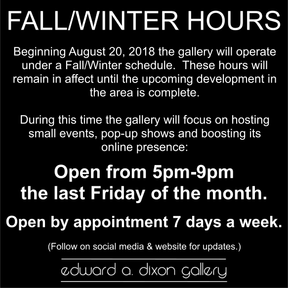 Fall-Winter Hours 2018